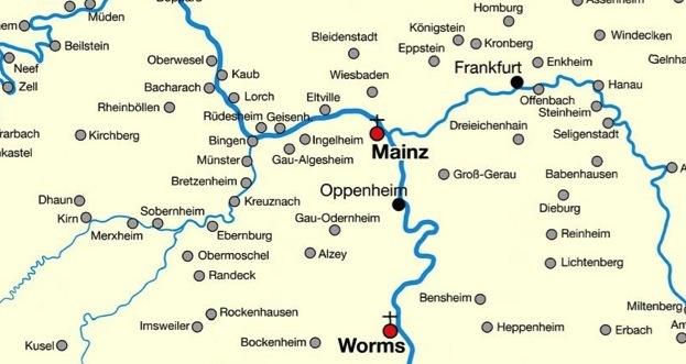 Mittelrheintal Karte.Die Judische Siedlungsentwicklung Am Mittelrhein Mittelalter